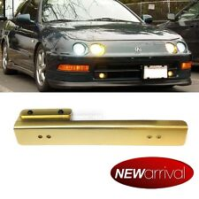 For: Civic Front Bumper Aluminum License Plate Relocation Bracket Gold