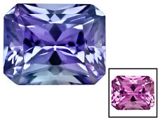 4.70 CARAT LAB CREATED COLOR CHANGE SAPPHIRE ~ 10 x 8 MM RECTANGULAR