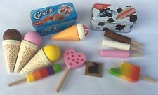 Ice Creams in Tins, Ice Lollies and more - Wooden Play Food Role Play Toys shop