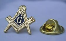 Masonic Lodge Freemason Gold Tone Square and Compass Lapel Pin Plus Gift Pouch