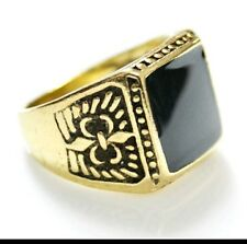Mens yellow gold plated ring size R1/2