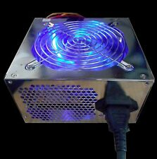 550W Blue LED ATX 12V v2.0 20/24pin PCIE SATA 120mm Cooling Fan PC Power Supply