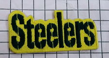 10490 NFL STEELERS name   Logo  Embroidered Iron on  sew on  Patch