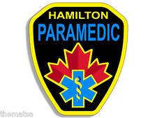 """HAMILTON ONTARIO CANADA PARAMEDIC FIRE 4"""" BUMPER HELMET DECAL STICKER USA MADE"""
