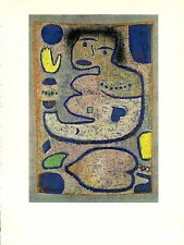 """1967 Vintage PAUL KLEE """"LOVE SONG BY THE NEW MOON"""" WOW! COLOR offset Lithograph"""