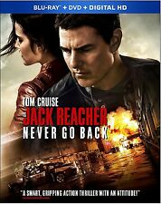 Jack Reacher: Never Go Back (Blu-ray/DVD, 2017, Includes Digital Copy) NEW