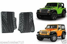 OEM Front Slush Floor Mats For 2007-2013 Jeep Wrangler 2 Door New Free Shipping