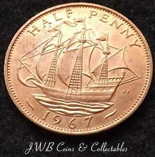 1967 Elizabeth II 1/2d Half-Penny Coin - Great Britain..