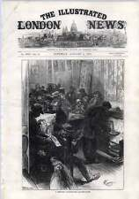 1872 A Communist Club Room Near Leicester Square French Refugees