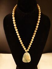 Old Chinese Jade Pendant Necklace Outstanding quality   Beautifu 14 k gold Italy