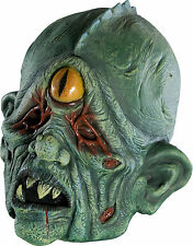 Adult Mutant Cyclops Mask One Eye Monster Mens Womens Green Zombie Creature Scar