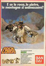 Pubblicità Advertising 1986 BANDAI ROCK LORDS Nuggit