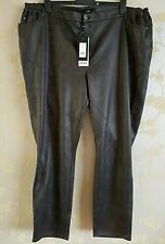X two stretchy suede/leather like slim stretch trousers size 5/28 UK BNWT