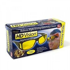New!! HD Night Vision Wraparounds! Yellow Lenses! As Seen On Tv! Retail Package!