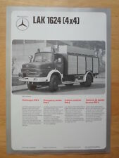 MERCEDES BENZ LAF 1113B & LAK 1624 Fire Fighting Vehicle 1974 Leaflet Brochure