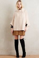NEW $268 Anthropologie Moth Boiled Wool Cape Size Medium