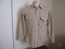 JC Penny Towncraft Mens Vintage Long Sleeve Fitted Shirt NO IRON Size SMALL