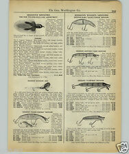 1927 PAPER AD Heddon's Fishing Lure Game Fisher Jointed Vamp Vampire Lucky 13