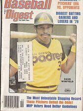 FEBRUARY 1979 BASEBALL DIGEST SAN DIEGO PADRES DAVE WINFIELD ON COVER