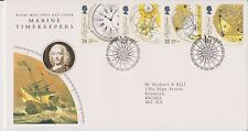 GB ROYAL MAIL FDC FIRST DAY COVER MARINE TIMEKEEPERS STAMP SET BUREAU PMK