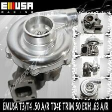 EMUSA T3/T4 Hybrid Turbo Charger .50 A/R Compressor .63 A/R Turbine Wheel