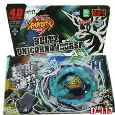 Blitz Unicorno 4D Metal Fusion Fight Fury Beyblade Launcher Master Toy Gifts