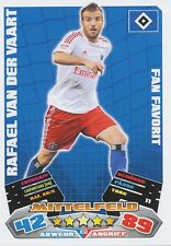 VAN DER VAART # FAN NETHERLANDS HAMBURGER.SV CARD MATCH ATTAX BUNDESLIGA 2013