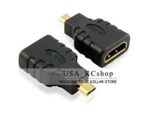 HDMI Type A Female to Micro HDMI Type D Male Plated Adapter Converter Connector