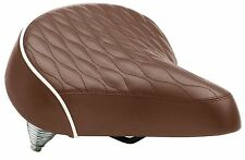 NEW Schwinn Quilted Springer Cruiser Saddle comfort wide Bicycle Seat, Brown