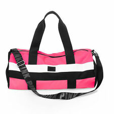VICTORIA SECRET PINK CLASSIC WEEKEND GETAWAY DUFFLE GYM BAG NEON PINK & BLACK