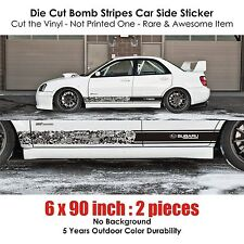 Subaru STI BRZ WRX XV bomb stripe sticker kit rally drift hellaflush impreza sti