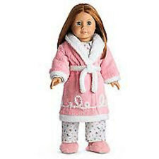 "American Girl EMILY ROBE & SLIPPERS for 18"" Doll Clothes Outfit Pajamas NEW"
