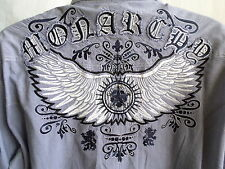 MONARCHY Collection Size 2XL Embroidered Long Sleeve Front Button 2 Pocket Shirt
