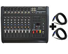 8- KANAL POWERMIXER 1300 Watt Bundle mit 2 x 15 Meter Lautsprecher Kabel