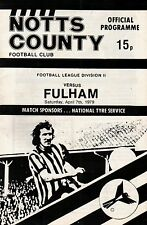 1978/79 Notts County v Fulham, Division 2, PERFECT CONDITION