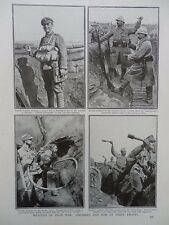 1916 ACID THROWER AND DIFFERENT HAND GRENADE TYPES  WWI WW1