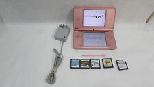 Nintendo DSi XL Launch Edition Metallic Rose / Pink Handheld System with 5 Games