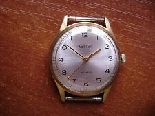 """VINTAGE USSR RUSSIA GOLD PLATED CLASSIC MEN'S WATCH""""WOSTOK"""" """"VOSTOK""""/NICE DIAL"""