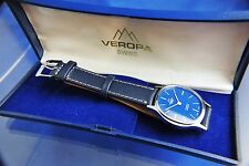 Vintage Retro Veropa Swiss Mechanical Watch NOS 1960s New Old Stock-Original Box