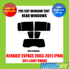 RENAULT ESPACE 2003-2011 (PH4) 35% LIGHT REAR PRE CUT WINDOW TINT