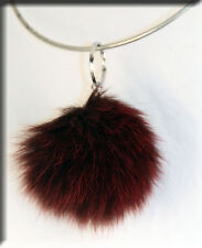 New Marroon Fox Fur Key Chain - Efurs4less