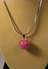 Malay red jade apple shape pendant (without chain)