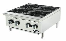 NEW 4 BURNER HEAVY DUTY COMMERCIAL COUNTERTOP GAS HOT PLATE AVAIL. IN NAT / LP