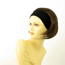 parrucca con bandana elastica corta cioccolato mechato rame AMANDA 6h30 PERUK