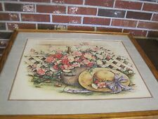 1991 MIDSUMMER ROSES PRINT BY PAULA VAUGHAN---LIMITED EDITION--SIGNED--COA