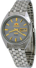 Orient FEM0401PK Men's 3 Star Strainless Steel Grey Dial Automatic Watch