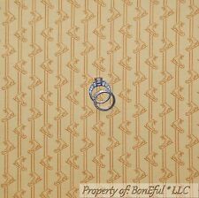 BonEful Fabric Cotton Quilt Yellow Gold Brown Ice Skate Xmas Girl Stripe L SCRAP