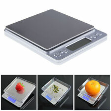 Mini High Precision Digital Gram Jewelry Scale 2000g x 0.1g LCD Display Silver
