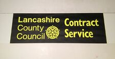 "Blackpool Bus Blind Oct 99(28"" Wide)- Lancashire County Council Contract Service"