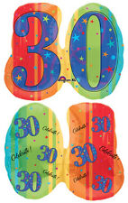 A Year to Celebrate - 30 30th Birthday Party SuperShape Shaped Mylar Balloon